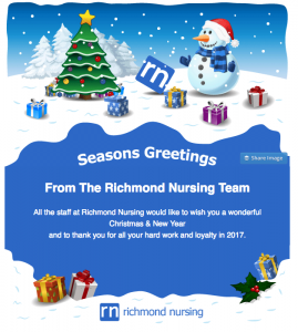 Seasons Greetings from Richmond Nursing